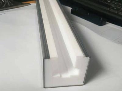 聚四氟导轨白色PTEE滑块耐腐浊磨条聚四氟乙烯导槽铁氟龙链条导轨